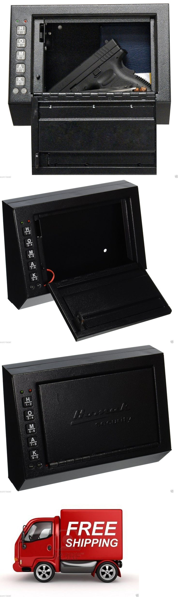 Cabinets and Safes 177877: Electronic Pistol Box Handgun Safe Cabinet Lock Gun Security Vault Wall Mount BUY IT NOW ONLY: $51.89
