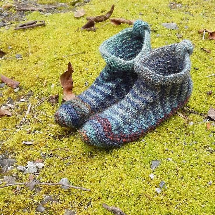 A new pair of #slippers #knit #knitlove
