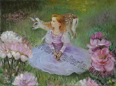 Gallery of Portrait Paintings Lovely to my Soul../ Lelkemnek kedves, olaj festmény, vászon henigaleria.hu/...