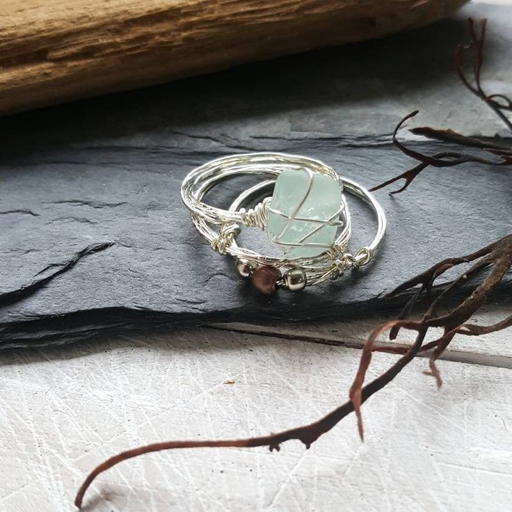 This boho style set of seaglass stacking rings is romantic and earthy. I know that so many people, like me, feel the call of the sea and the salty breeze in their soul. My aim is to bring a little slice of that romantic ocean escape to my customers ♡ ---------------------------------------------