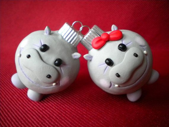 Hippopotamus for Christmas Decoration / Photo Holder | HIPPOS!!! |  Pinterest | Polymer clay christmas, Christmas Ornaments and Christmas - Hippopotamus For Christmas Decoration / Photo Holder HIPPOS