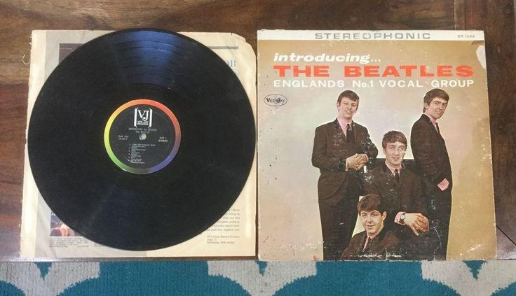Introducing The Beatles SR 1062 STEREO Rare Vinyl LP butcher stereo VEE JAY
