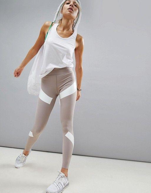 Asos 4505 Asos 4505 Run Legging With Compression Panels Legging Fashion Clothes