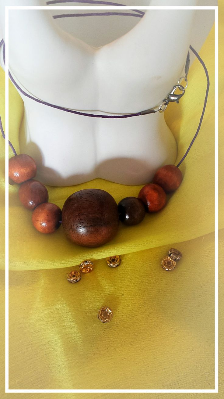 Charming wooden necklace by BlueBirdjewel on Etsy