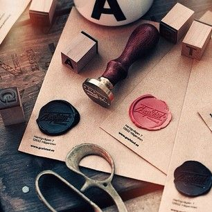 Brand identity. Wax seal. Stamp. Vintage. From Grafstad.