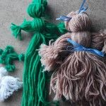 How to make yarn dolls and corncob dolls just like the ones made in Little House in the Big Woods.