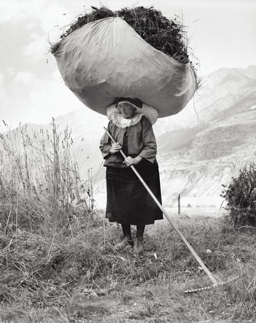 :::::::::: Vintage Photograph ::::::::::   Haying in Cogne, 1959 by Pepi Merisio.  If I ever want to whine about loading the dishwasher yet again, I'll come and look at this photograph.
