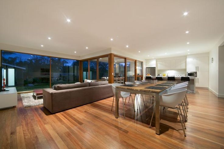 Spacious modern extension at rear of bungalow