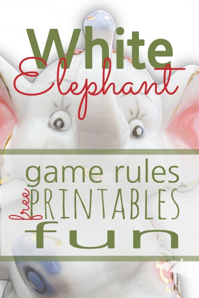 This is a picture of Terrible White Elephant Rules Printable