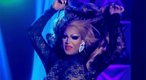 Roxxxy Andrews' wig-on-wig action while lip syncing for her life on RuPaul's Drag Race Season 5.