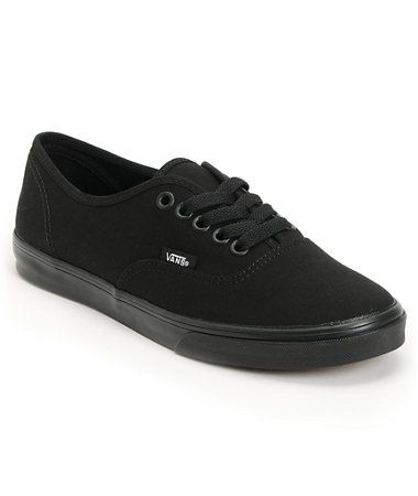 Vans Women's Authentic Lo Pro All Black Shoe at Zumiez : PDP