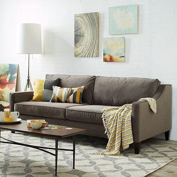 Paidge sofa grand westelm home pinterest sofas for West elm sectional sofa brown