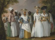 """A free person of color in the context of the history of slavery in the Americas, is a person of full or partial African descent who was not enslaved. In the United States, such persons were referred to as """"free Negroes,"""" though many were of mixed race (in the terminology of the day, mulattos, generally of European and African descent).    Free people of color was especially a term used in New Orleans and the former Louisiana Territory, where a substantial third class of primarily mix..."""