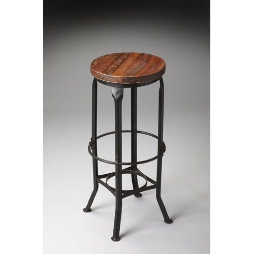Metalworks Round Bar Stool Butler Specialty Company Stationary Bar Stools Kitchen & Dining