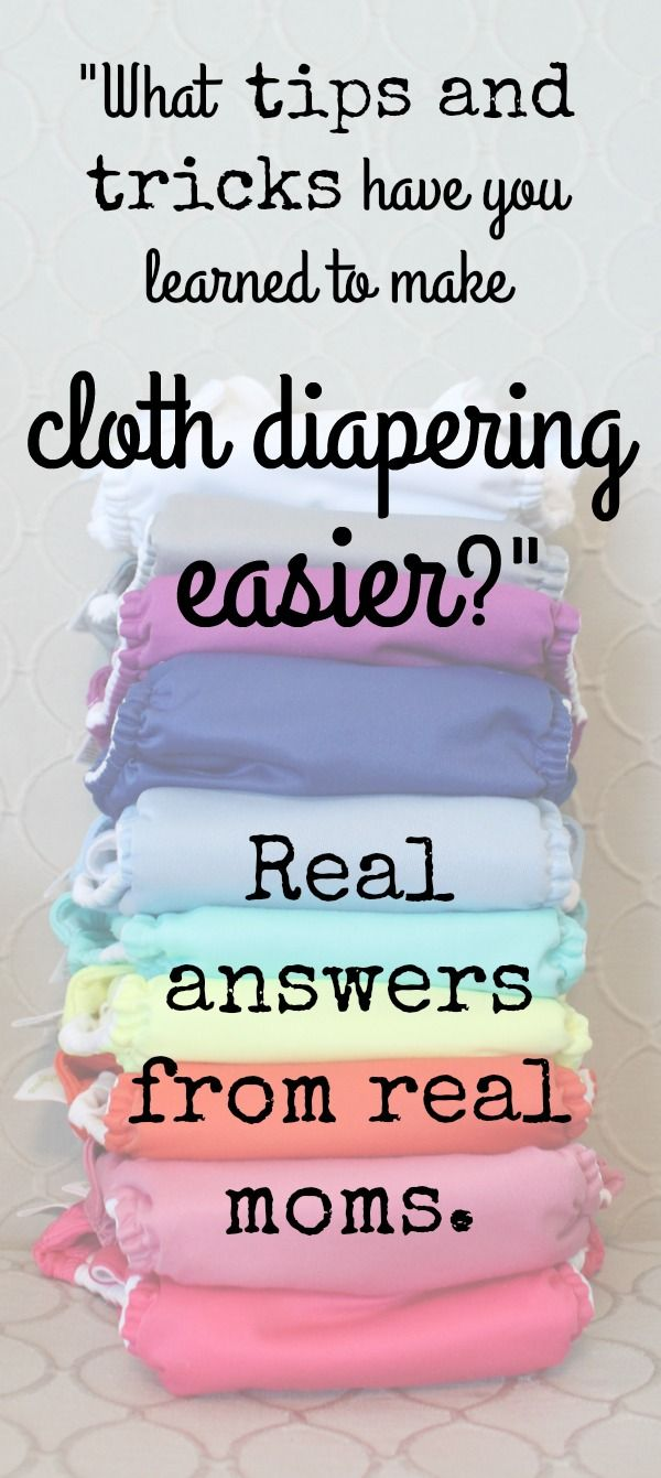 Your cloth diaper questions answered by real moms: What tips and tricks do you have to make cloth diapering easier? Survey results