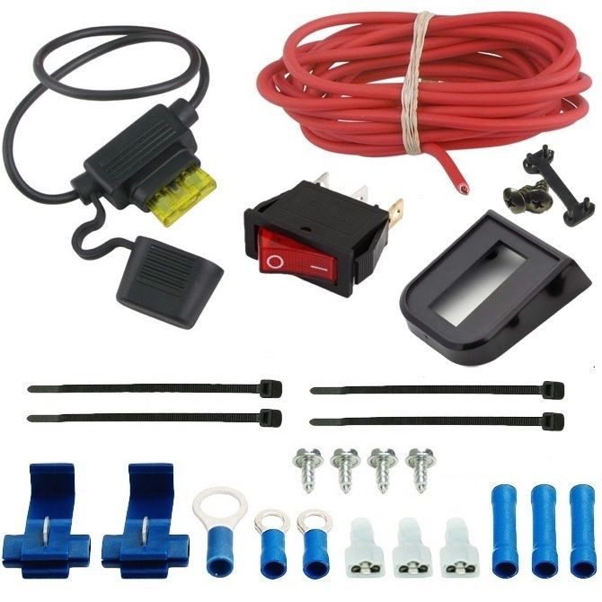 Automotive Electric Radiator Fan Manual Rocker Switch Wiring Kit Single Toggle