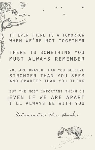 Winnie the Pooh, quotes inspiration