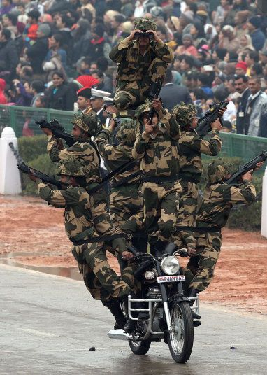 India Republic Day: 26 Jan - Members of the border security force - Telegraph