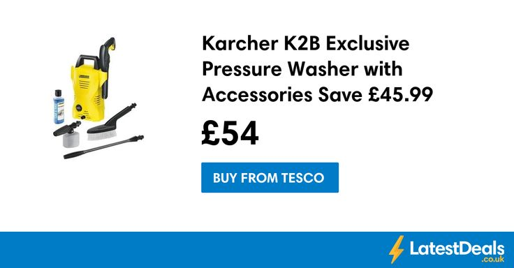 Karcher K2B Exclusive Pressure Washer with Accessories Save £45.99 Free C+C, £54 at Tesco