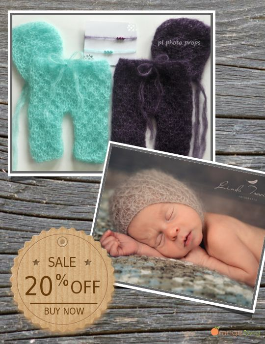 Newborn photo props blankets headbands by plphotoprops