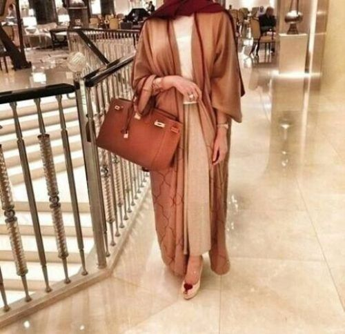 cognac abaya style- Abaya hijab fashion from Dubai http://www.justtrendygirls.com/abaya-hijab-fashion-from-dubai/