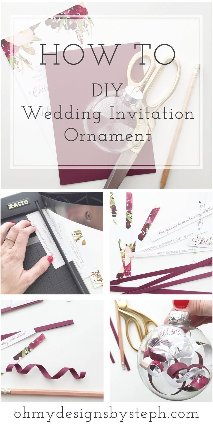 Wedding Invitation Ornament DIY Tutorial                                                                                                                                                                                 More