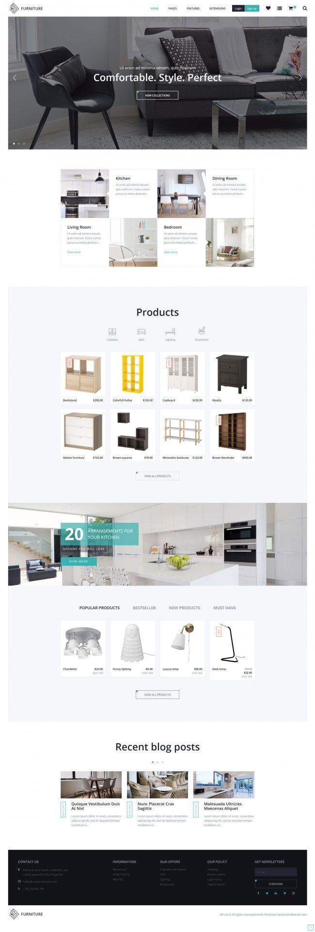 JM Lux - modern Joomla Ecommerce template presented as an example of furniture and decor store. Homepage example for furniture online store. #modern #Joomla #ecommerce #template #furniture #decor #store  https://www.joomla-monster.com/joomla-templates/i/22-ecommerce/244-jm-lux