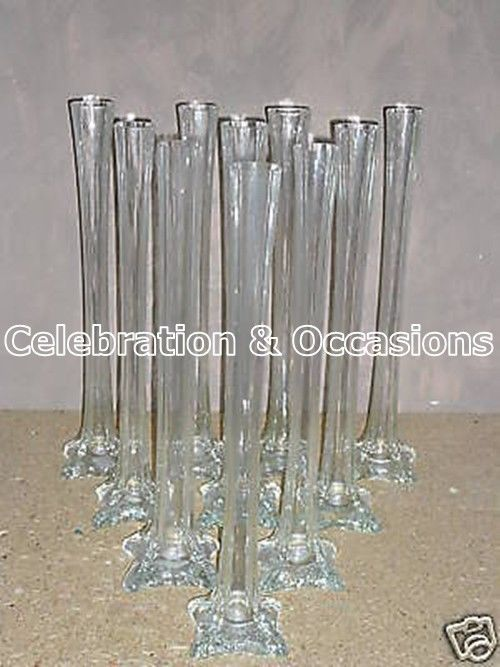 Cm tall square footed glass lily wedding vase s