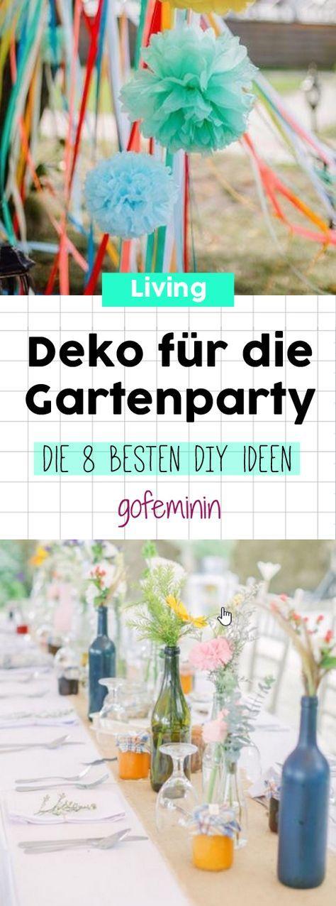 Deko Ideen für deine nächste Gartenparty - wow so schön!