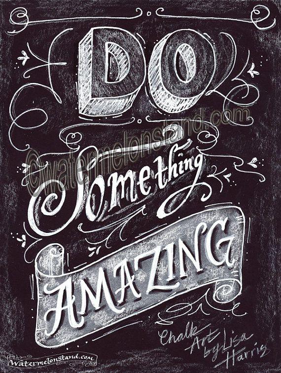 Chalkboard Art Poster  DIY Projects  Chalkboard art Chalkboard lettering Blackboard art