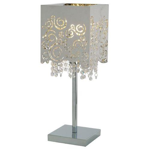 ET2 Lighting Modern Table Lamp In Polished Chrome Finish   E21700 69PC    Destination Lighting