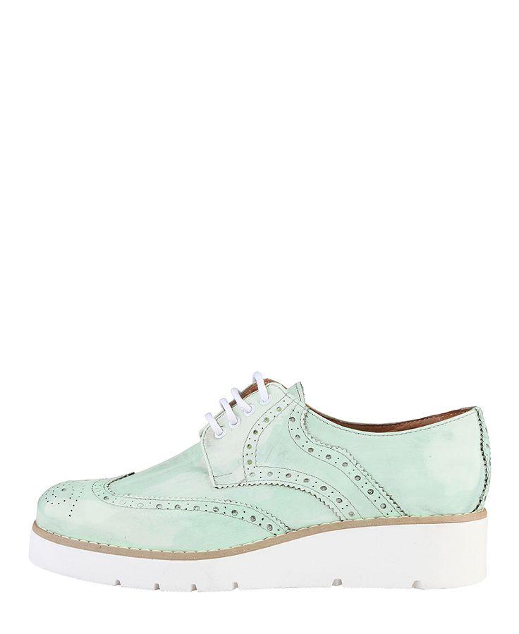 Ana lublin scarpe donna - made in italy - collezione primavera/estate 2016 - scarpa inglesina allacciata - tomaia: 100%  - Stringata donna camila Verde
