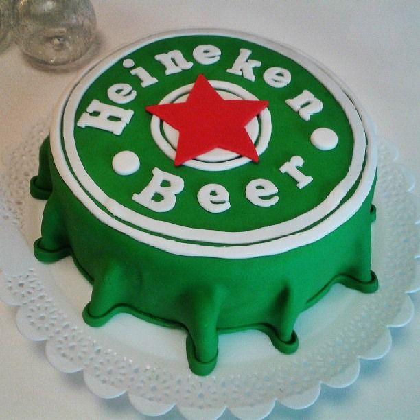 Heineken Beer Cake - Bolo Tampa Cerveja Heineken