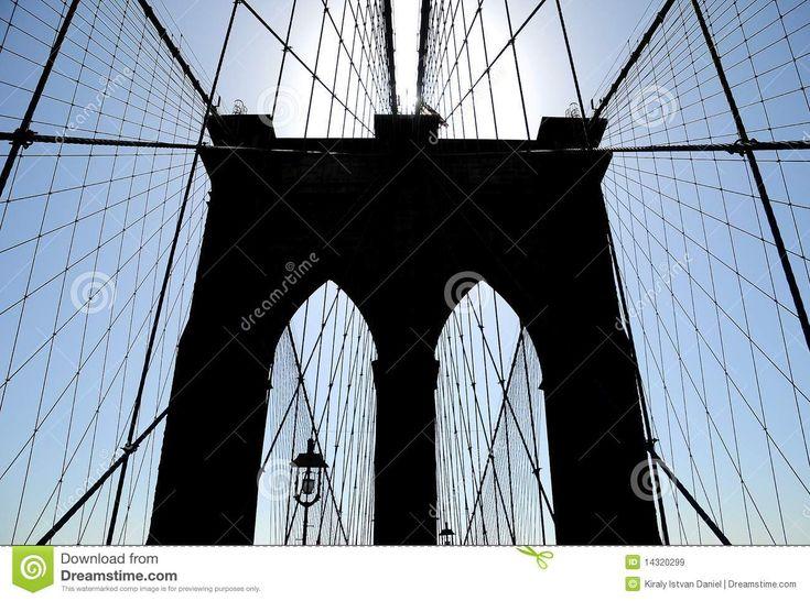 brooklyn bridge clipart | Architectural details of Brooklyn Bridge, New York City.