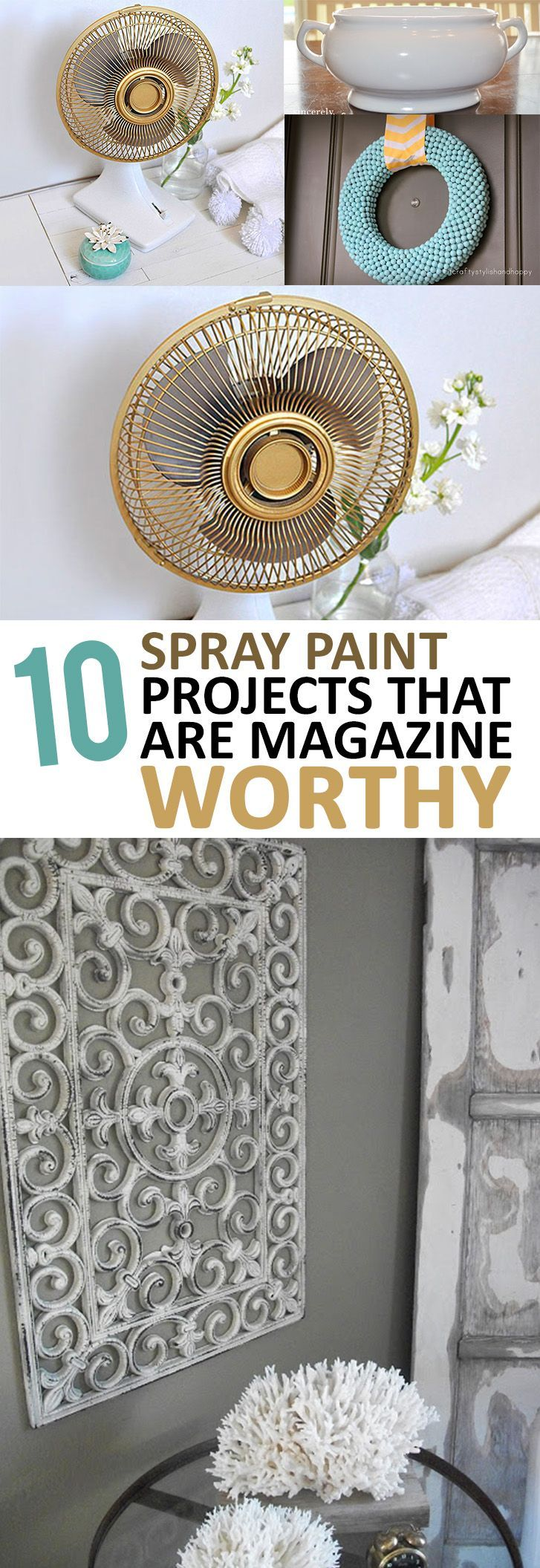 Amazing DIY home decor projects using spray paint!                                                                                                                                                                                 More