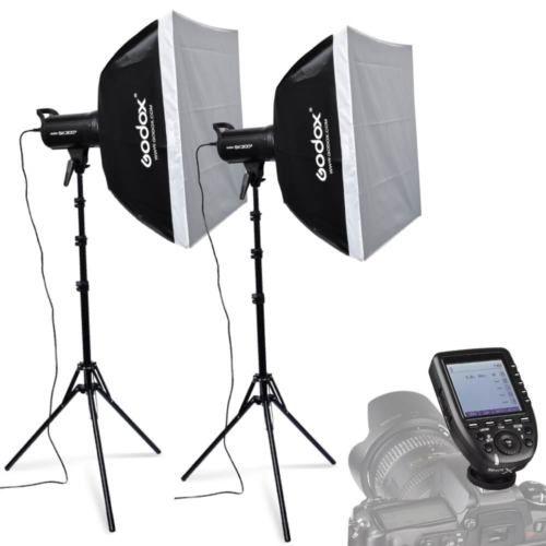 2X Godox SK300II 300W 2.4G Flash Strobe Light Stand Trigger Kit for Nikon 110V