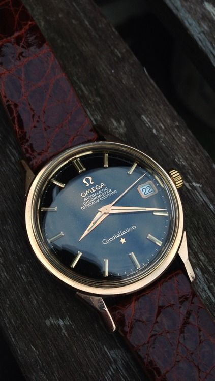 Vintage Omega Constellation Black Dial