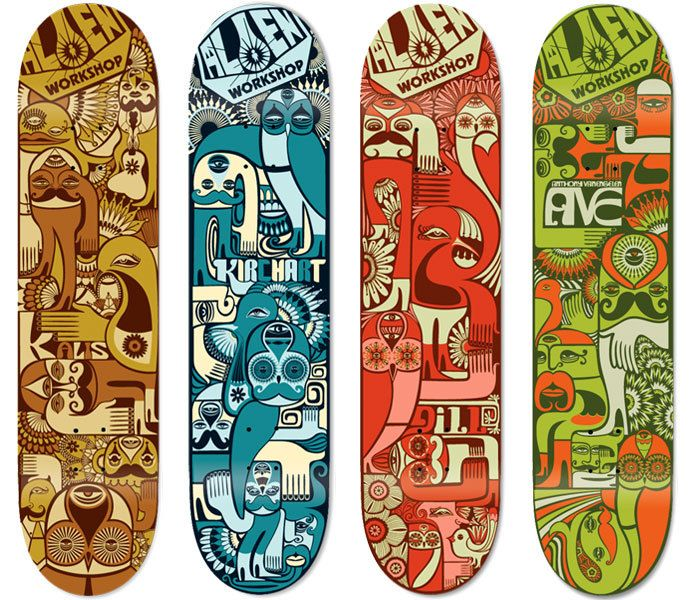 Alien Workshop Skateboards by Anthony Yankovic, via Behance