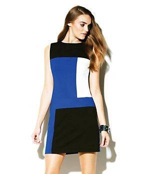 Vince Camuto Colorblock Shift Dress-  Love color block