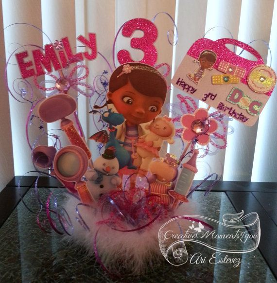 Doc McStuffins Birthday Cake Topper by CreativeMoments4You on Etsy