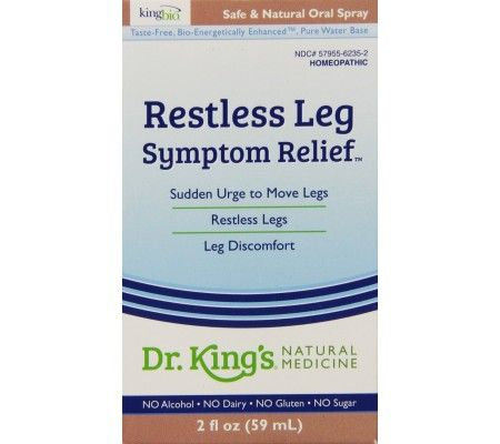 King Bio - Homeopathic Natural Medicine Restless Leg Syndrome - 2 oz. (59 ml)     King Bio Homeopathic Natural Medicine Restless Leg Syndrome is ideal for the relief of restless legs, compelling urge to move legs; with heaviness, weakness, stiffness, numbness, uneasiness, twitching, drawing, jerking, burning, cramping, and pain. These symptoms are often worse at night.