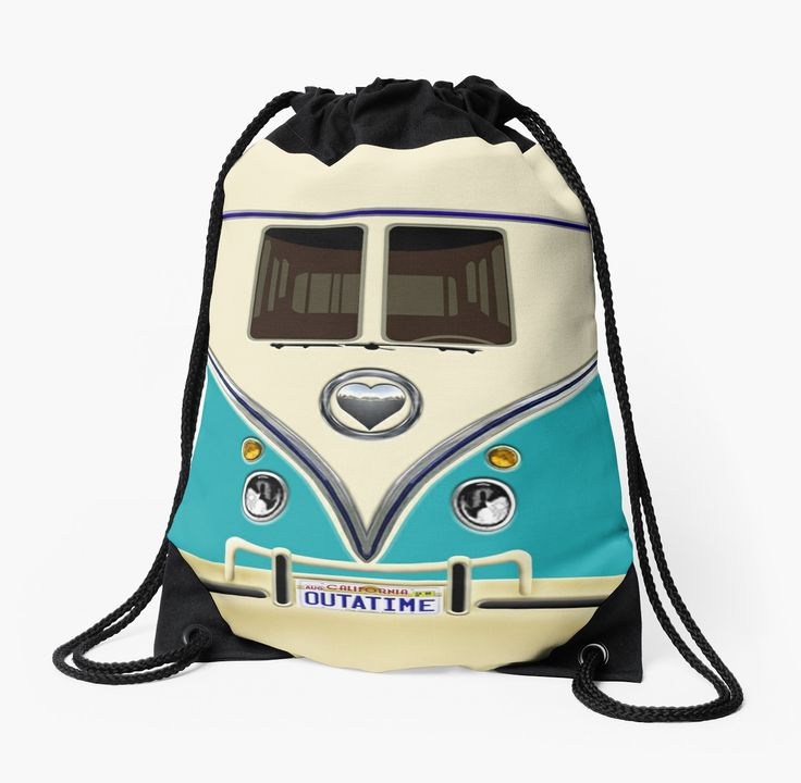 kawaii Blue teal love bug mini bus Drawstring Bags @pointsalestore #StudioPouches #bag #funny #cute #fun #lol #veedub #golf #kombi #minivan #minibus #beetle #bus #camper #retro #splitwindow #van #vintage #bumper #car #lovecar #offroad #campercar #microbus #pickup #transporter