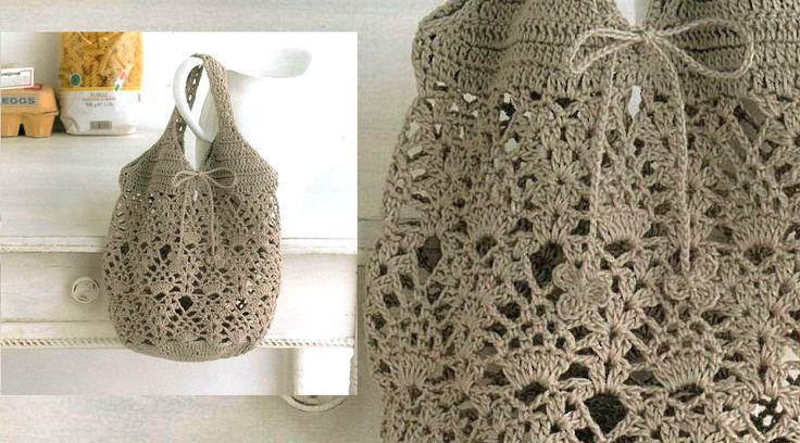 Bolsa gris tejida a crochet con patron - Manualidades Y DIYManualidades Y DIY
