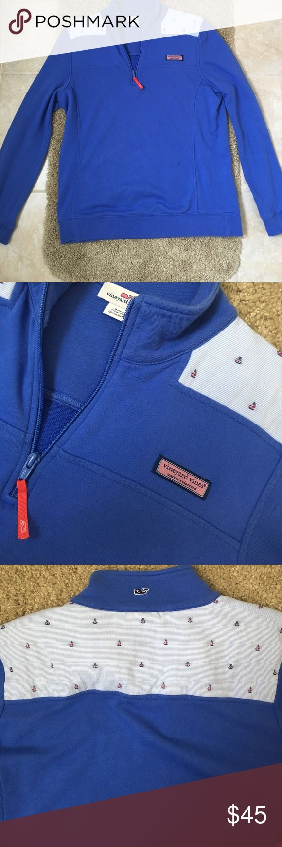 Vineyard Vines Women's Shep Shirt Quarter Zip pullover with Nautical Design. Barely worn. Vineyard Vines Jackets & Coats