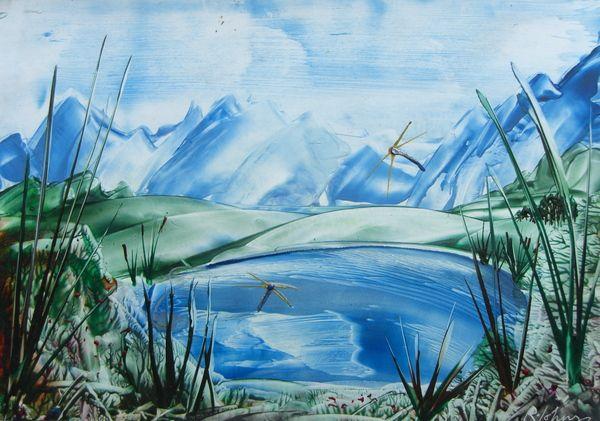 Encaustic Art by Ruth Johnson, via Behance
