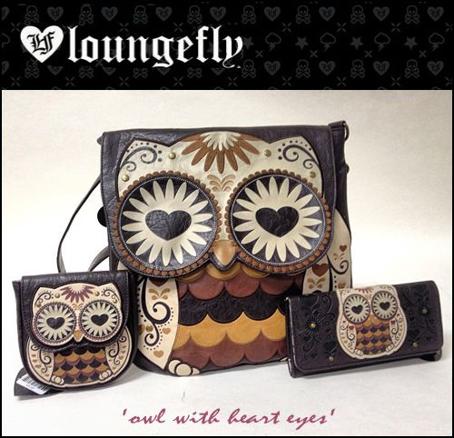 {Shut the front door!! Oh my...I must have one of each!<3 ~My Owl Barn: Loungefly: Owl With Heart Eyes}<3