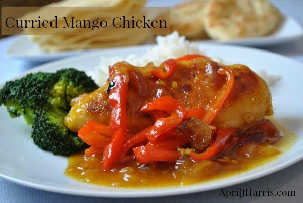 Curried Mango Chicken   Recipe   Chicken recipes, Chicken yakisoba and ...