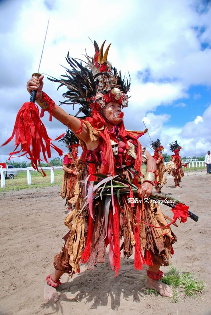 Sarian Kabasaran is one of the leaders of the dance Kabasaran from Minahasa, North Sulawesi.