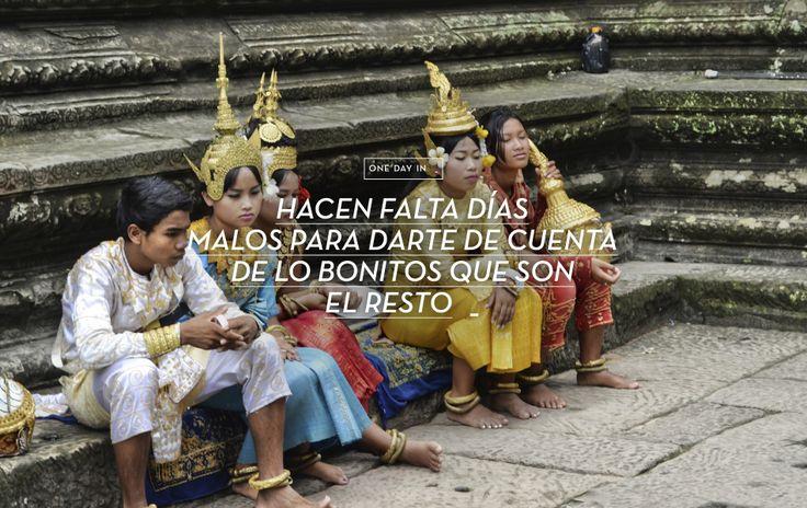 Hacen falta días malos para ver lo bueno que son el resto. www.onedayin.es