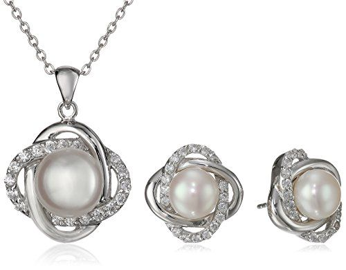 Bella Pearl Cubic Zirconia Eternity Jewelry Set ** Find out more about the great product at the image link.